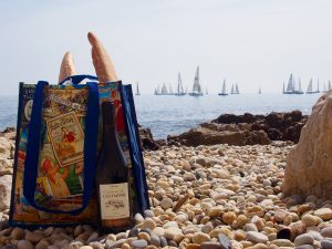 Enjoying a picnic at the beach!